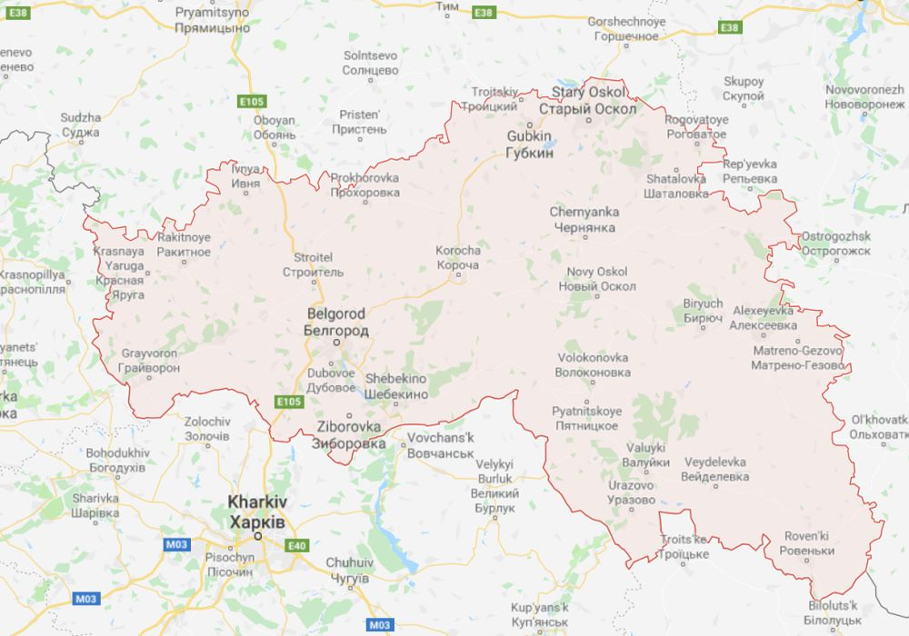 Russian Federation Belgorodskaya Oblast Area Codes